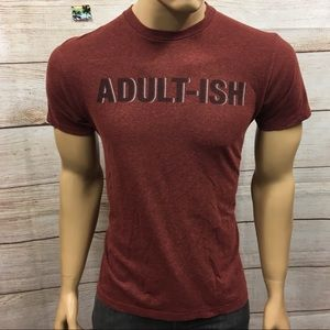 Men's Well Worn LA Brand Adultish Funny T Shirt M
